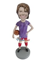 Custom Bobblehead | Basketball Player Female Bobblehead
