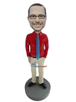 Custom Bobble Head | Executive In Shirt Bobblehead | Gift Ideas For Men