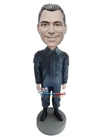 Custom Bobble Head | Lear Jacket Casual Male Bobblehead | Gift For Men