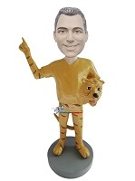 Custom Bobble Head | Male Tiger Mascot Bobblehead | Gift For Men
