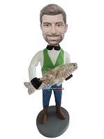 Custom Bobble Head | Man With Big Fish Bobblehead | Gift Ideas For Men