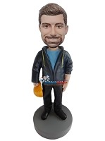 Custom Bobble Head | Construction Work In Hoodie Bobblehead | Gift For Men