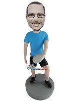 Custom Bobble Head | Man With Frisbee Bobblehead | Gift Ideas For Men