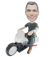 Low Rider Motorcycle Man bobblehead Doll