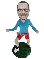 Custom Bobble Head | Soccer Playing Man Bobblehead | Gift Ideas For Men