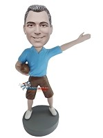 Custom Bobble Head | Casual Football Fan Bobblehead | Gift For Men