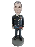 Custom Bobble Head | Decorated Military Officer Bobblehead | Gift For Men