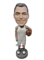 Custom Bobble Head | Man Holding Basketball In Uniform Bobblehead | Gift Ideas For Men