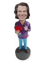 Custom Bobble Head | Man Playing Poker Bobblehead | Gift Ideas For Men