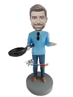 Custom Bobble Head | Man With Pan Bobblehead | Gift Ideas For Men