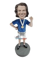 Custom Bobble Head | Winning Runner Male Bobblehead | Gift Ideas For Men