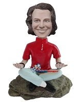 Custom Bobble Head | Meditating Man In Turtleneck Bobblehead | Gift For Men