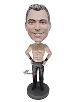 Custom Bobble Head | Wrestler In Lear Pants Male Bobblehead | Gift Ideas For Men