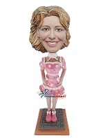 Custom Bobble Head | Sexy Polka Dot Dress Woman Bobblehead | Gift Ideas For Women