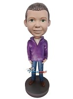 Custom Bobble Head | Boy In Hoodie Bobblehead | Gift For Men