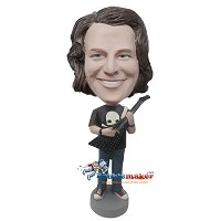 Custom Bobble Head | Metal Guitar Player Man Bobblehead | Gift For Men