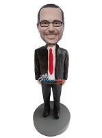 Custom Bobble Head | Black Suit Bobblehead | Gift Ideas For Men