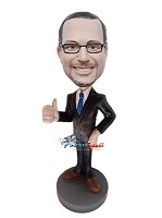 Custom Bobble Head | Thumbs Up Executive Bobblehead | Gift Ideas For Men