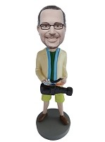 Custom Bobble Head | Zoom Lens Camera Man Bobblehead | Gift For Men