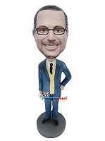 Custom Bobble Head | Hand On Hip Boss Bobblehead | Gift Ideas For Men