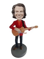 Custom Bobble Head | Red Blazer Male Guitarist Bobblehead | Gift For Men
