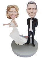 Custom Bobble Head | Runaway Bride Bobblehead | Gift Ideas For Couple