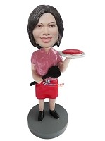 Custom Bobble Head | Woman Making Pizza Bobblehead | Gift Ideas For Men