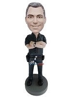 Custom Bobble Head | Arms Crossed Policeman Bobblehead | Gift Ideas For Men