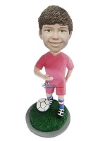 Custom Bobble Head | Boy With Soccer Ball Custom Bobblehead | Gift Ideas For Men