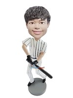 Custom Bobble Head | Swinging Baseball Bat Boy Bobblehead | Gift Ideas For Men