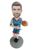 Custom Bobble Head | Dribbling Basketball Player Bobblehead | Gift Ideas For Men