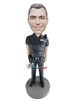 Custom Bobble Head | Police Officer With Walkie Talkie Bobblehead | Gift Ideas For Men