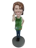 Custom Bobblehead | Basketball Fan Female Bobblehead