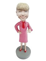 Airline Stewardess Custom bobblehead Doll