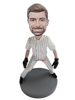 Custom Bobble Head | Legs Spread Baseball Player Bobblehead | Gift Ideas For Men