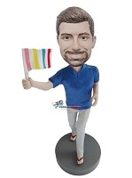 Custom Bobble Head | Gay Pride Male Bobblehead | Gift For Men