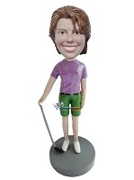Custom Bobble Head | Golfing Woman With Club Bobblehead | Gift Ideas For Women