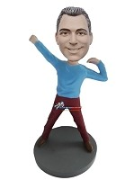 Custom Bobble Head | Flexing Pose Casual Male Bobblehead | Gift For Men
