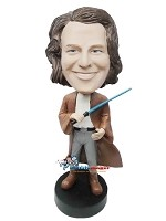 Custom Bobble Head | Male Jedi Warrior Bobblehead | Gift For Men