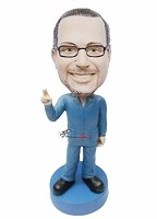 Custom Bobble Head | Man Holding Up Two Fingers Bobblehead | Gift For Men