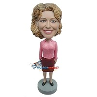 Custom Bobble Head | Woman In Office Attire Bobblehead | Gift Ideas For Women
