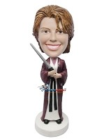 Custom Bobble Head | Female Jedi Knight Bobblehead | Gift For Men