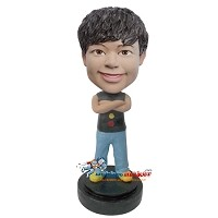 Custom Bobble Head | Casual Boy In Tank Top Bobblehead | Gift For Men