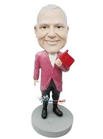 Custom Bobble Head | Man With Flag Bobblehead | Gift For Men