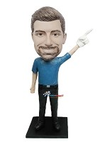 Custom Bobble Head | Foam Finger Man Bobblehead | Gift Ideas For Men