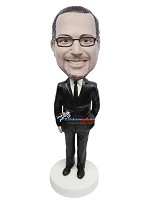 Custom Bobble Head | One Hand In Pocket Businessman Bobblehead | Gift Ideas For Men