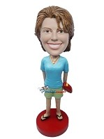 Custom Bobble Head | Woman With Big Ring Bobblehead | Gift Ideas For Women
