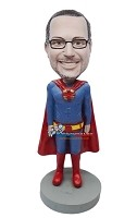 Custom Bobble Head | Generic Superman Costume Bobblehead | Gift For Men