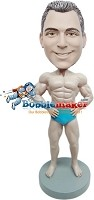 Custom Bobble Head | Muscle Man With Hands On Waist Bobblehead | Gift For Men