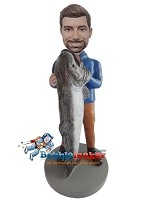 Custom Bobble Head | Man With Huge Fish Bobblehead | Gift Ideas For Men
